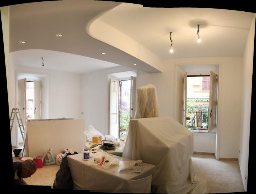ante operam, renovation, living room, work in progress